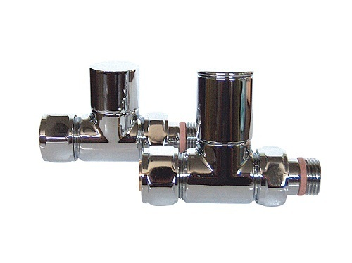 Saneux Pair Of Chrome Polished Straight Valves VA-1023