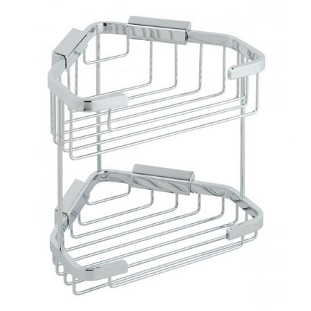 Vado large double triangular corner basket BAS-2013-C/P-0