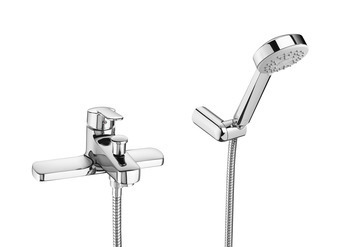 Roca Vectra Deck Mounted Bath Shower Mixer 120.VEDMBSM