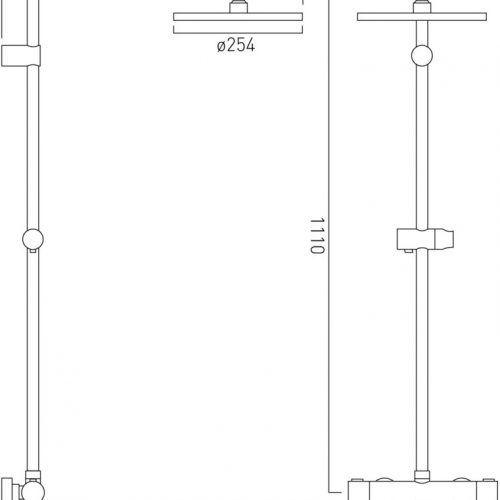 Vado Velo thermostatic shower valve package kit