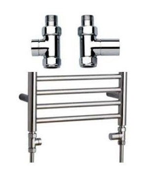 A Pair of JIS Solar Straight Chrome Valves VFS