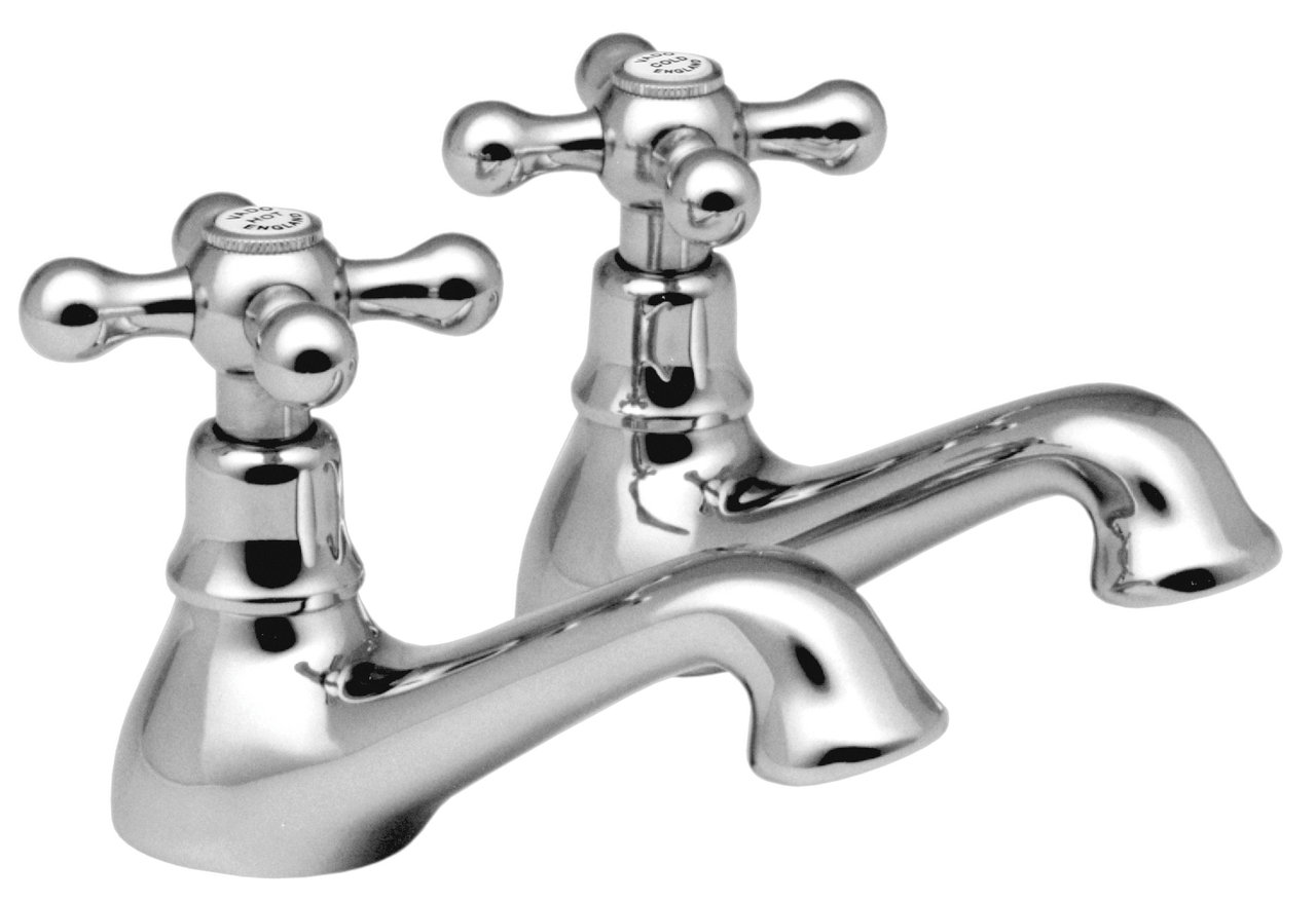 Vado Victoriana basin pillar taps chrome VIC-106/CD-C/P
