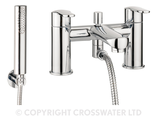 Crosswater Voyager Bath Shower Mixer With Handset VO422DC