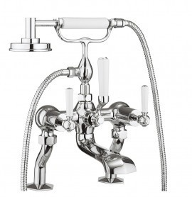 Waldorf White Lever Bath Shower Mixer With Kit WF422DC_LV