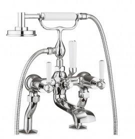 Waldorf White Lever Bath Shower Mixer With Kit WF422DC_LV