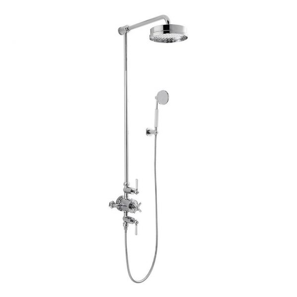 Waldorf Black Lever Thermo Shower Valve With Bracket Handset