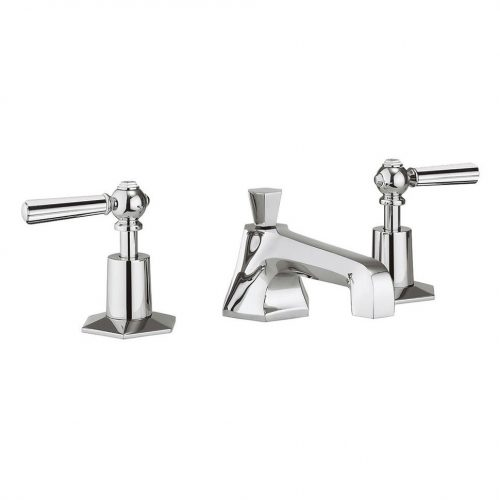 Waldorf Chrome Lever Basin 3 Hole Set WF130DPC_CLV