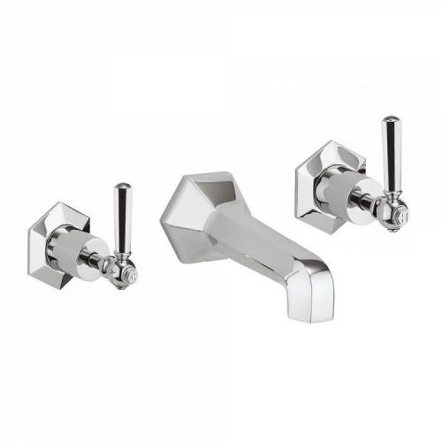 Waldorf Chrome Lever Basin 3 Hole Set WF131WNC_CLV
