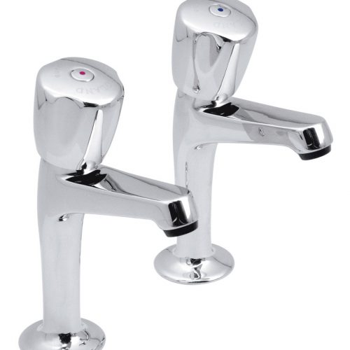 vado warwick high neck sink pillar taps WAR-256/CD-C/P