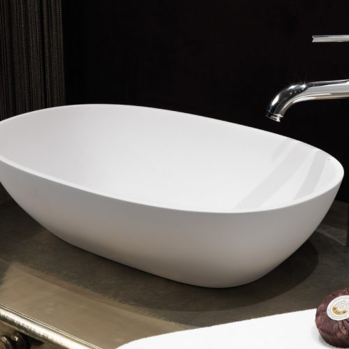 Waters Dawn 550 x 350mm Stone Basin Free Delivery