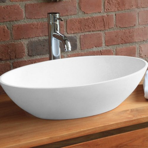 Waters Ellipse 550 x 349mm Stone Basin Free Delivery