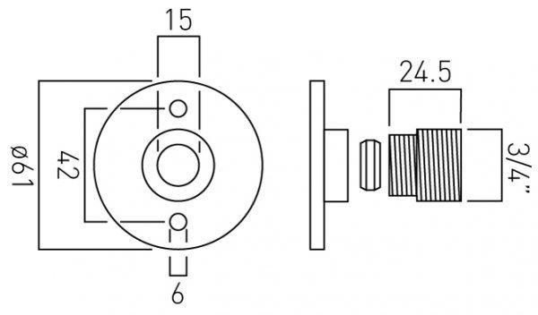 Vado pair of showr elbows and shrouds WG-049BRACK+SHR-C/P