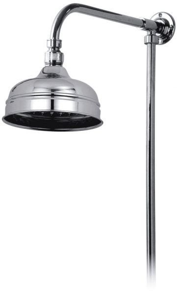 Vado rigid riser with shower head in gold WG-16202-A/G