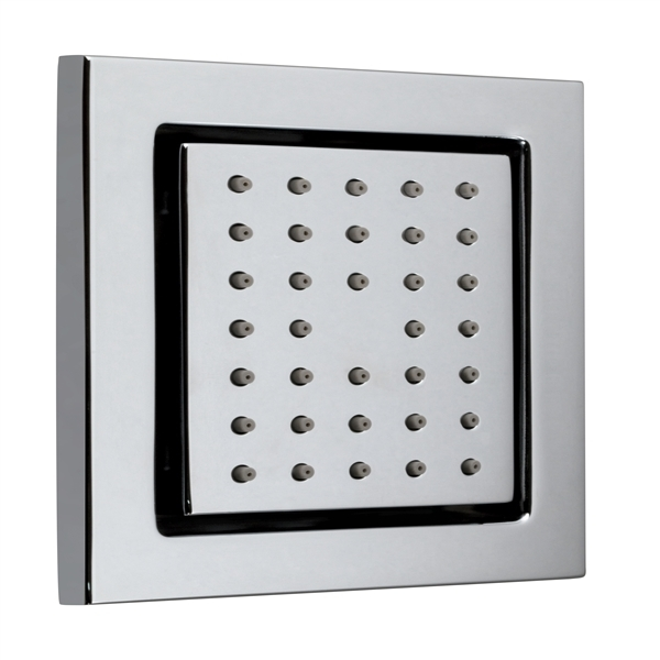 Vado tilting wall mounted square shower body tile jet