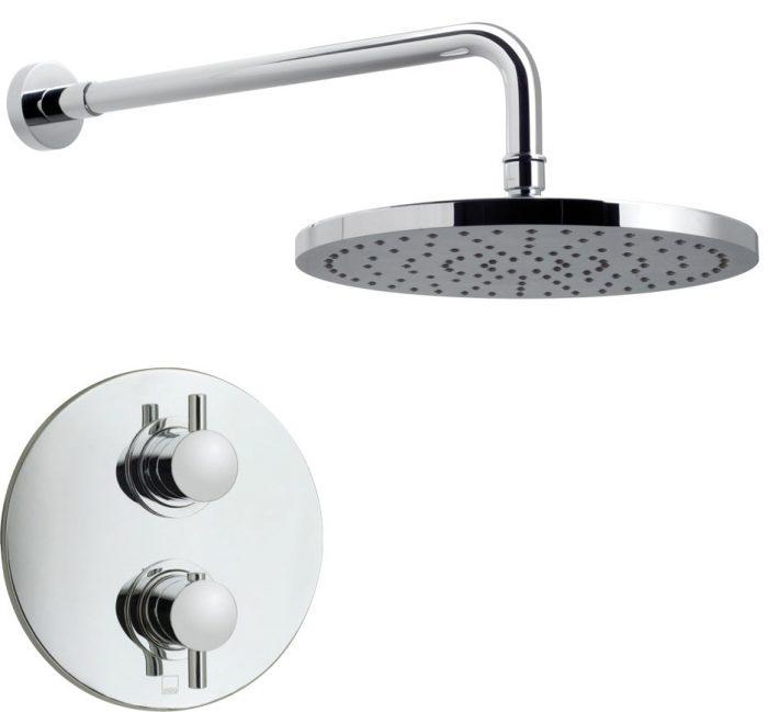 Vado Celsius shower valve head & arm WG-CELBOXRO/SAT-C/P