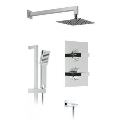 Vado Notion thermostatic shower package WG-NOTBOX/2/A-C/P