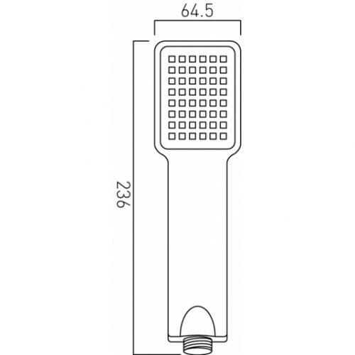 Vado single function shower handset WG-V2HANDSET-C/P