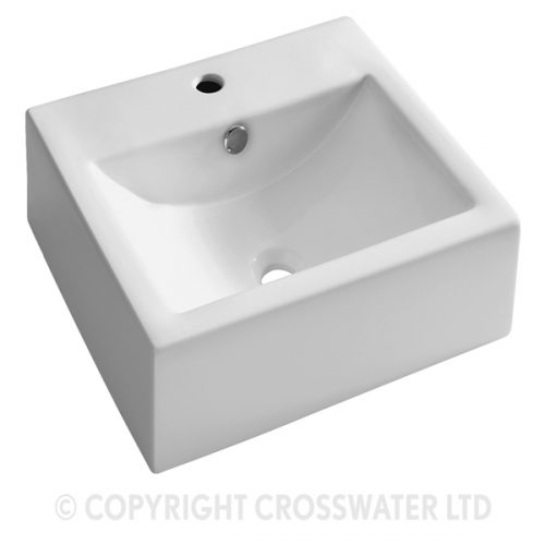 Crosswater Bolonia W/M Basin 510 With Overflow WM0010SCW