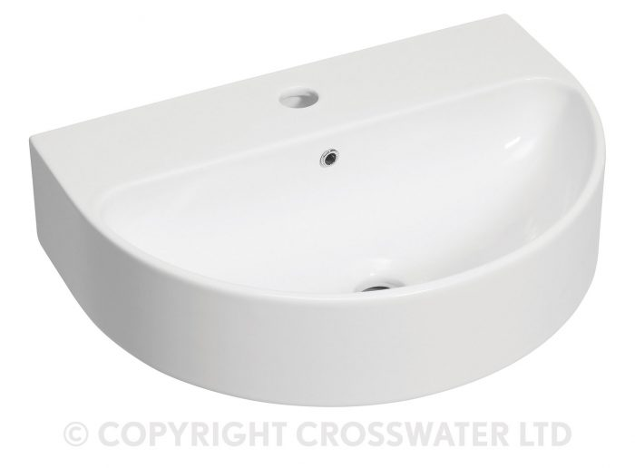 Bauhaus Celeste Wall Mount Basin Overflow White WM1180SCW