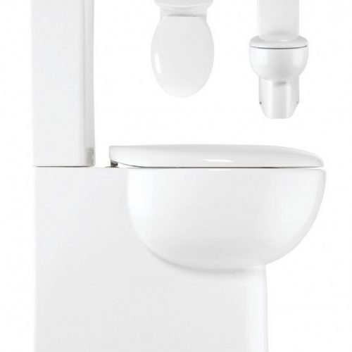 Crosswater Wisp Close coupled toilet pan cistern and seat
