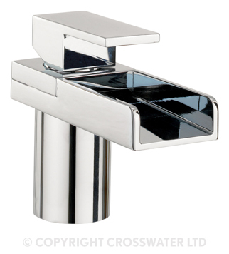 Crosswater Water Square Basin Mixer Tap With No Waste WS110DNC