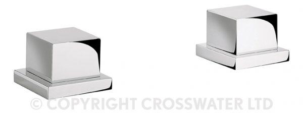 Crosswater Water Square Panel Valves Pair Deck Mtd WS350DC