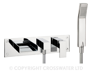 Crosswater Water Square Bath Shower Mixer Kit WS432WC