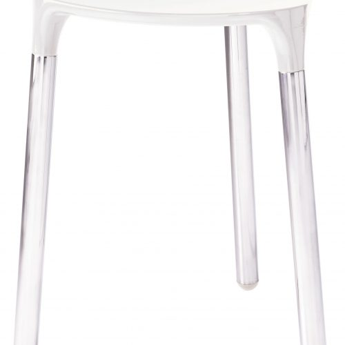 Gedy Yannis Modern Bathroom Stool white chrome 2172-02-0