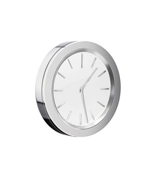 Smedbo Small 60mm Chrome And White Wall Clock Yx380