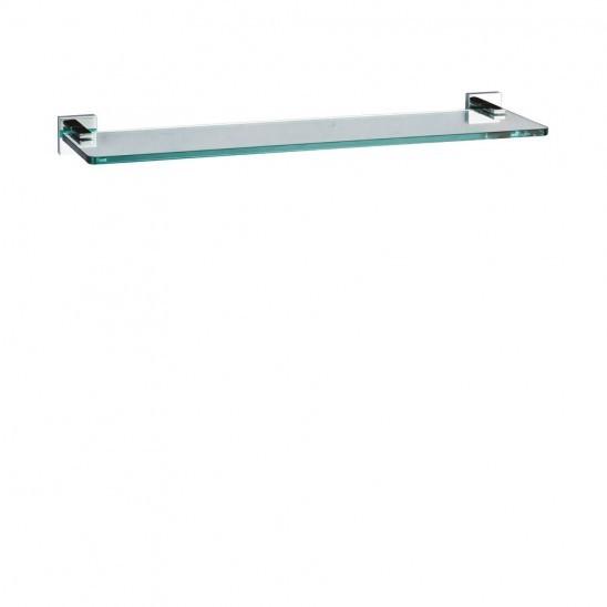 Crosswater Zeya Clear Glass Bathroom Shelf 50cm ZE001C