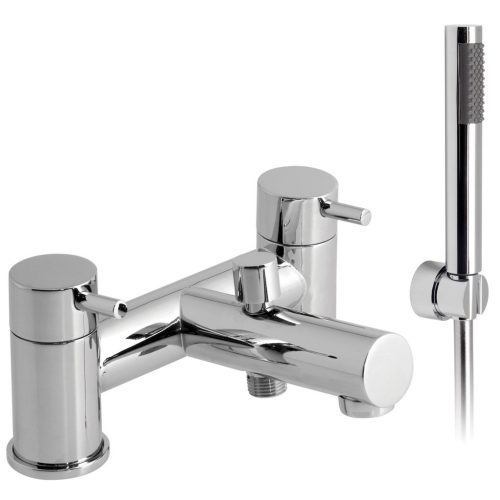 Vado Zoo 2 hole chrome bath shower mixer ZOO-130+K-C/P