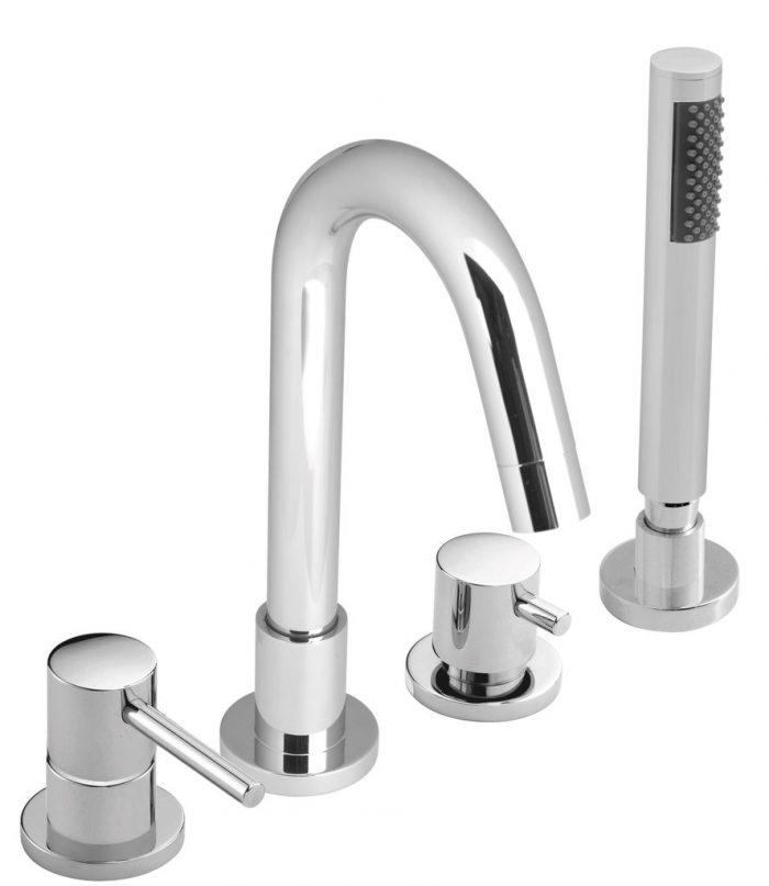 Vado Zoo 4 hole bath shower mixer tap set ZOO-132-C/P