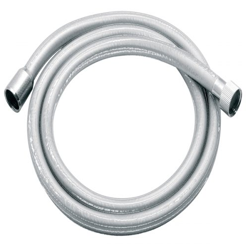 Vado Zoo smooth standard size silver shower hose