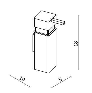 Crosswater Zest Modern Wall Mounted Soap Dispenser ZT011C