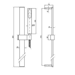 Zucchetti Aguablu Slide Rail Shower Kit Z93060