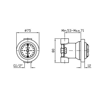 Zucchetti Shower Plus Body Spray Z92906