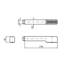 Zucchetti Soft Handshower Simple Jet Hand Set Z94725