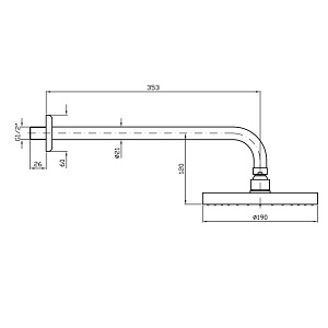 Zucchetti Brass Shower Head 190mm In Brushed Nickel Z94192.C3