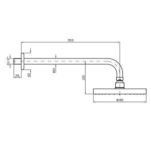 Zucchetti Brass Shower Head 190mm In Matt Black Z94192.N1