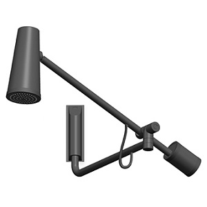 Zucchetti Closer Black Shower Head Z94250.N7