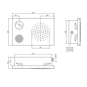 Zucchetti Shower Plus Ceiling Shower Head With Light Z94150