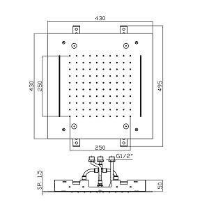 Zucchetti Shower Plus 430mm Shower Head Z94229