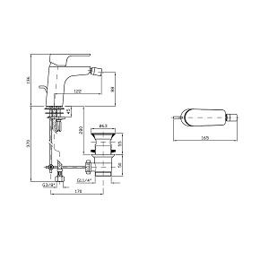 Zucchetti Wind Single Lever Bidet Mixer ZWN347