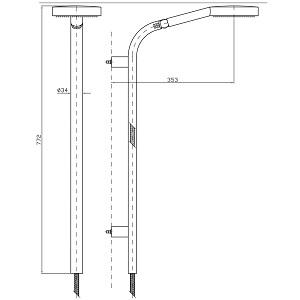 Zucchetti Sliding Rail Kit With Handset Z93118