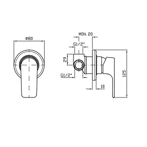 Zucchetti Wind Single Single Lever Mixer ZWN129