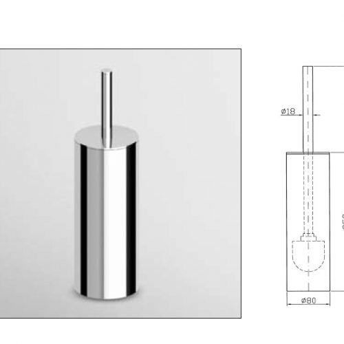 Zucchetti Isy Bagno WC Brush Set Free Standing ZAC355-0