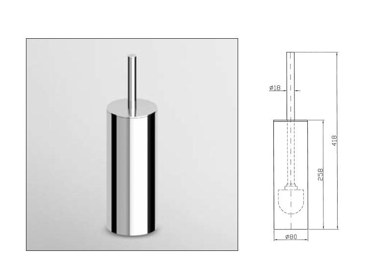 Buy Online Zucchetti Isy Bagno WC Brush Set Free Standing ZAC355