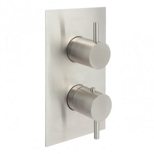 Inox thermostatic concealed 2 outlet shower valve IX671A