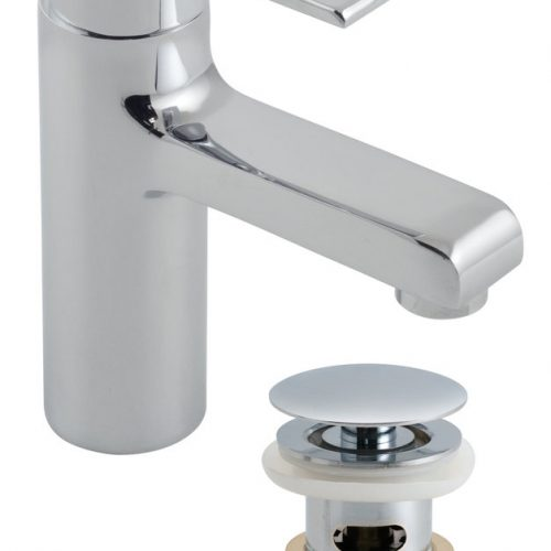 Vado Ion mono basin mixer with waste ION-100/CC-C/P