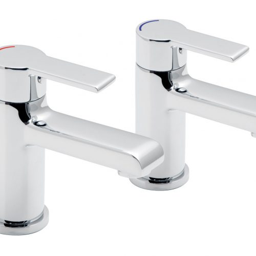 Vado Ion modern pair of bath pilar taps ION-136-C/P